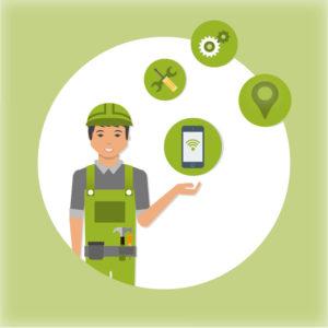 Icônes fonctions du technicien